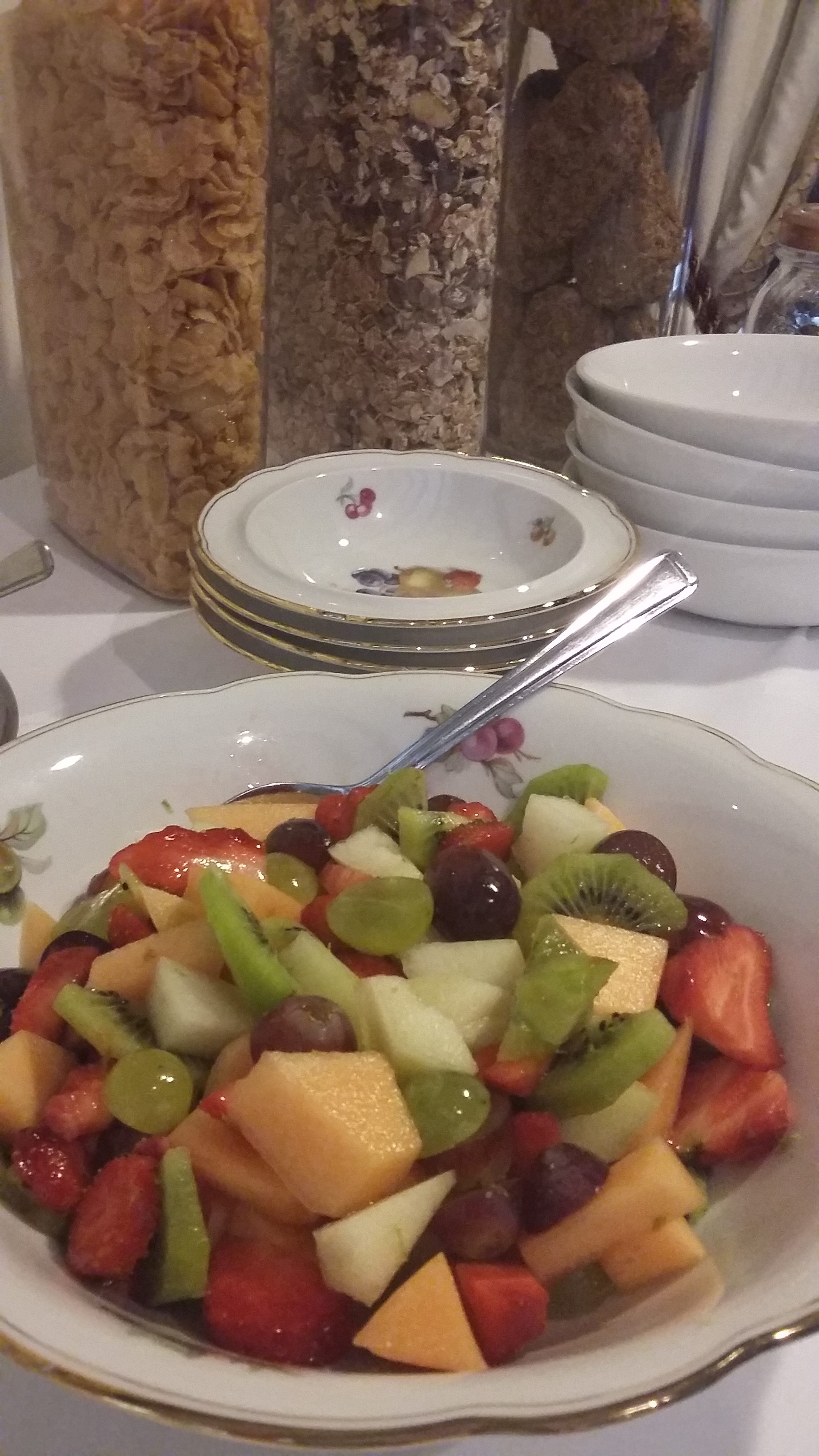 Jim's famous fresh fruit salad, available daily