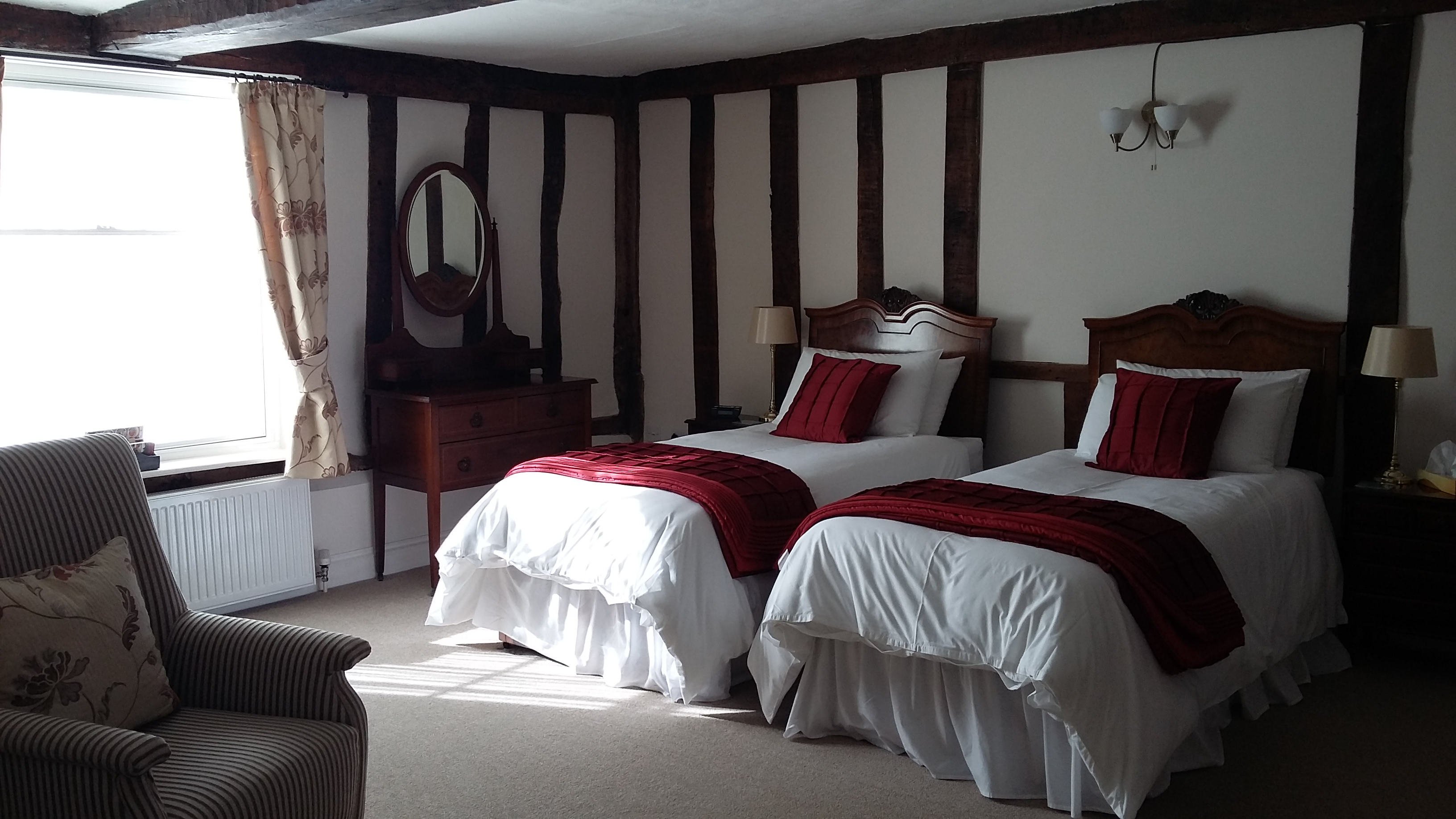 The Barley Room, our very generous and comfortable ground floor twin room.